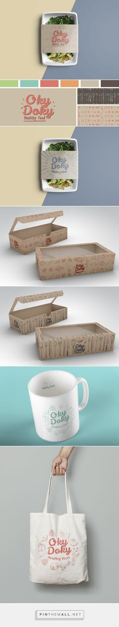 Oky Doky Healthy Food by Estudio Brecha. Source: Bechance. Pin curated by #SFields99 #packaging #design #inspiration #ideas #branding #product #healthy #food #structural