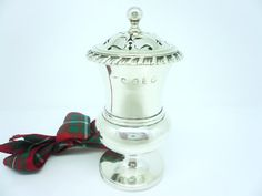 Silver Pepper Pounce Pot Sterling Antique English by DartSilverLtd, £220.00