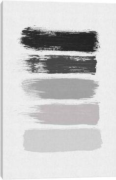 B&W Stripes Canvas Art by Orara Studio Abstract Canvas Wall Art, Canvas Art Prints, Wall Canvas, Canva Instagram, Photoshop Essentials, Gray Aesthetic, Striped Canvas, Colour Pallete, Aesthetic Stickers
