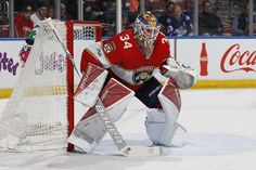 SUNRISE, FL - MARCH 14: Goaltender James Reimer #34 of the Florida Panthers defends the net against the Toronto Maple Leafs at the BB&T Center on March 14, 2017 in Sunrise, Florida. The Panthers defeated the Maple Leafs 7-2. (Photo by Joel Auerbach/Getty Images)