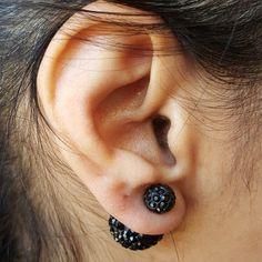 Pianeta Noir Two Studs Earrings