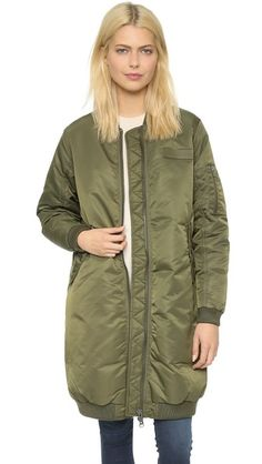 Long Bomber, length is similar to mine, like the shot of the garment.