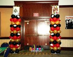 casino themed balloon arch - Google Search
