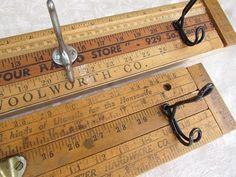 Hip hip hooray!  Repurposed yardsticks!