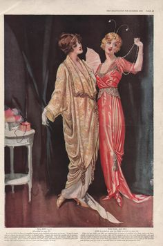 Edwardian Women's Fashion Print  from The Delineator Magazine of October, 1913  (Print or Digital Image)