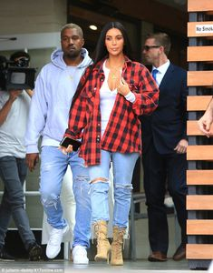 Lunch date: Wednesday, Kim Kardashian and Kanye West enjoyed a lunch date-turned-power-lunch at Hugo's in Agoura Hills