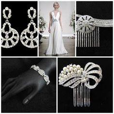 Geometric Deco www.vintagebridaljewellery.co.uk Wedding Accessories, One Shoulder Wedding Dress, Deco, Wedding Dresses, Vintage, Fashion, Bride Dresses, Moda, Bridal Gowns