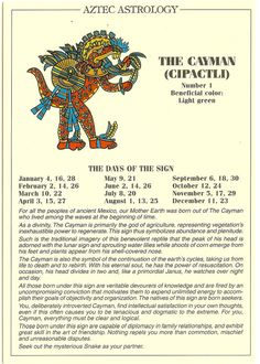 Items similar to Vintage Aztec Astrology postcard: The Cayman; from Zodiac Unlimited on Etsy Vintage Aztec Astrology postcard: The Cayman from Zodiac Chinese Astrology, Astrology Zodiac, Zodiac Signs, Mayan Astrology, Mayan Zodiac, Learn Astrology, Sagittarius, Numerology Numbers, Numerology Chart