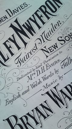 welsh music typography #typography #design #dh