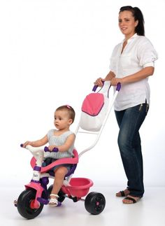 SMOBY 444245 fialovo-ružová trojkolka Be Move Confort Fille od 10 mesiacov