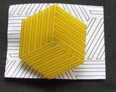Cube Brooch