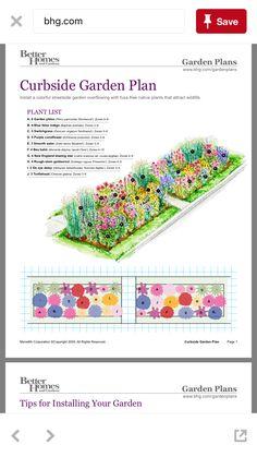 Flower garden plans - Discount at the curb – Flower garden plans Perennial Garden Plans, Flower Garden Plans, Perennial Gardens, Front Yard Landscaping, Native Plants, Garden Planning, Garden Inspiration, Outdoor Gardens, Planting Flowers