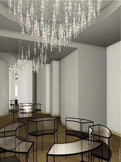 Windfall Chandeliers for Cartier, Shanghai