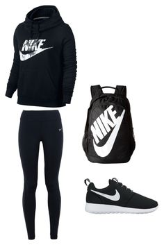 Apr 2020 - A fashion look from May 2017 by harleyrotey featuring NIKE Outfits Teenager Mädchen, Teen Girl Outfits, Tomboy Outfits, Athletic Outfits, Outfits For Teens, School Outfits, Cute Nike Outfits, Cute Outfits With Leggings, Cute Comfy Outfits
