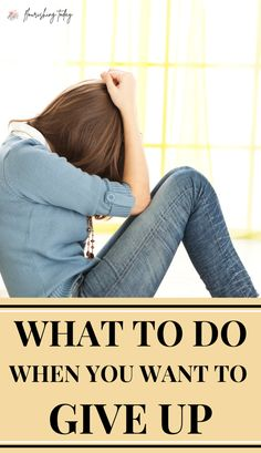 Are you ready to give up in the midst of a battle? When we get tired and worn out, it's easy to get discouraged. Here are a few tips on what to do when you want to give up! #overcome #encouragement