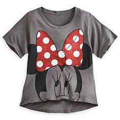 Disney Minnie Mouse Tee for Women   Disney StoreMinnie Mouse Tee for Women - Minnie's bright, sparkling bow is the main attraction on this fine fashion tee with scoop neck and stylish high-low hem.