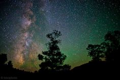 """Great Basin National Park, Nevada  From the National Park Service: """"On a clear, moonless night in Great Basin National Park, thousands of stars, five of our solar system's eight planets, star clusters, meteors, man-made satellites, the Andromeda Galaxy, and the Milky Way can be seen with the naked eye. The area boasts some of the darkest night skies left in the United States."""""""