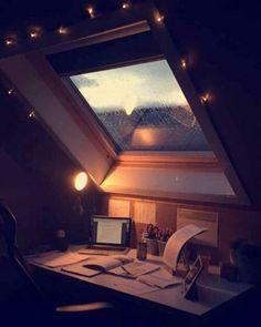 #мансарда #рабочееместо #интерьер #attic #workplace #interiordesign