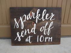 Sparkler Send Off Sign - Custom Calligraphy