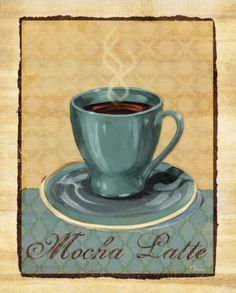 Coffee Club II Prints by Paul Brent at AllPosters.com Café Vintage, Vintage Coffee, Vintage Labels, Coffee Cup Art, Coffee Club, Coffee Wine, Coffee Lovers, Coffee Mugs, Decoupage