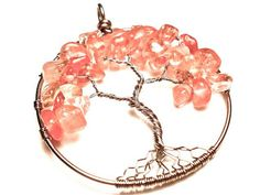 Cherry Tree of Life Pendant EMOTIONAL RELIEF by OddsAndEndsByKaley