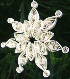 UNIQUE Handmade White SNOWFLAKE Christmas by artfromyanina on Etsy