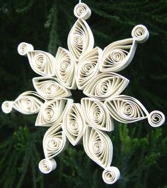 UNIQUE Handmade White SNOWFLAKE Christmas by artfromyanina on Etsy