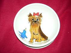 Dog Bowl 8 Dog Bowl for Food or Water Personalized at no Charge Signed by Artist Debby Carman *** Check out this great product.