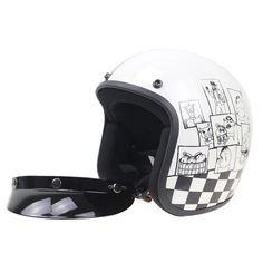 Cartoon Designed  Open Face Helmet Motorcycle Helmets, Bicycle Helmet, Bike, Open Face Helmets, Cartoon Design, Cartoons, Unisex, Motorcycles, Collections