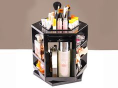 360° Rotating Display Stand ABS Cosmetic Storage Boxes| Buyerparty Inc.