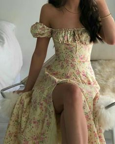 Cute Casual Outfits, Girly Outfits, Pretty Outfits, Pretty Dresses, Beautiful Dresses, Blue Dress Outfits, Elegant Dresses, Vintage Dresses, Trend Fashion