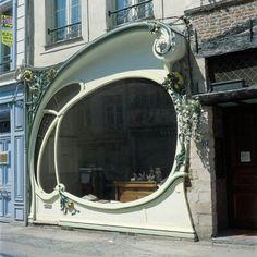 Art nouveau storefront