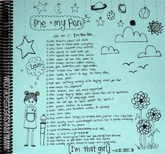 """I'm That Girl"" journaling by pinksuedeshoe"
