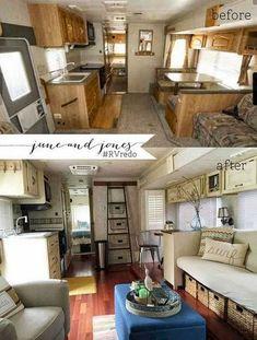 New camper remodel rv makeover rv redo 53 Ideas Camper Life, Rv Campers, Camper Van, Rv Life, Happy Campers, Remodel Caravane, Camping Vintage, Vintage Campers, Vintage Rv