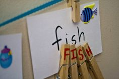 sight word practice and fine motor activity