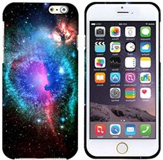 """myLife Black, Blue, and Pink {Twinkling Starry Colorful Galaxy} 2 Piece Snap-On Rubberized Protective Faceplate Case for the NEW iPhone 6 (6G) 6th Generation Phone by Apple, 4.7"""" Screen Version """"All Ports Accessible"""" myLife Brand Products http://www.amazon.com/dp/B00U0KNZQQ/ref=cm_sw_r_pi_dp_y0gfvb199VEST"""
