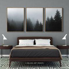 Paysage forestier vert arbres toile wall art pano encadrée imprimer