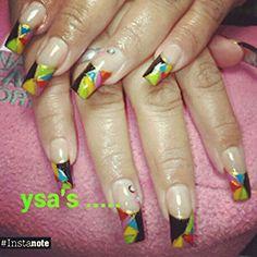 Kaleidoscopic nail tips YSA @Instagram