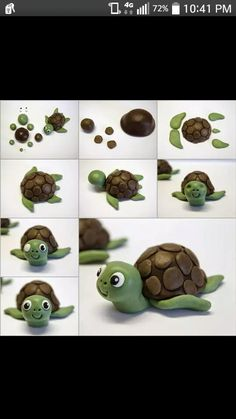 super cute playdoh turtle