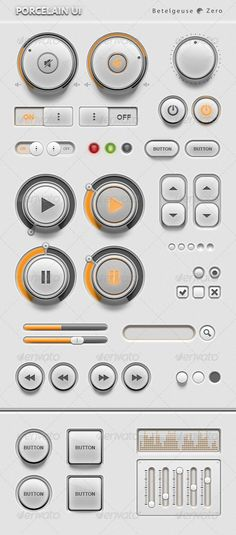 Porcelain UI Kit - GraphicRiver Item for Sale