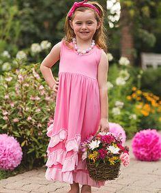 Princess Threadz Pink Skyler Dress - Toddler & Girls on #zulily