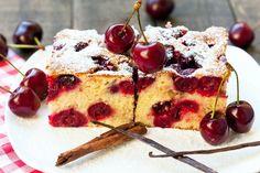 Gâteau cerises amandes et cannelle C'est moelleux, c'est délicieux et c'est de saison #recettes #desserts #cerises