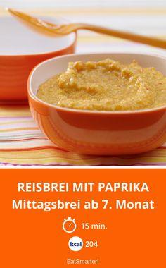 Reisbrei mit Paprika - Mittagsbrei ab 7. Monat - smarter - Kalorien: 204 kcal - Zeit: 15 Min. | eatsmarter.de