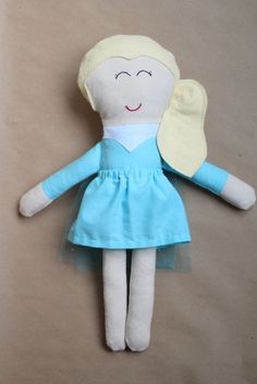 Frozen Elsa Inspired Fabric Doll  Made to Order by Lifelongdance, $50.00