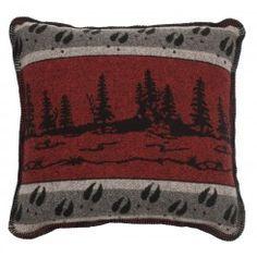 "Moose Tracks Decorative Pillow - 20"" x 20"""