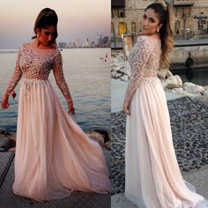 'Make+a+bold+entrance+at+your+prom+in+this+chic+long+sleeve+prom+dress.+This+glitter+tulle+dress+features+flawlessly+bodice,+decked+out+heavily+with+crystal+rhinestone+beading+fit+for+a+prom+queen!+Beautiful+crystal+accents+cover+the+long+sleeves+for+some+major+sparkle+and+shine.+Tages+:+P...