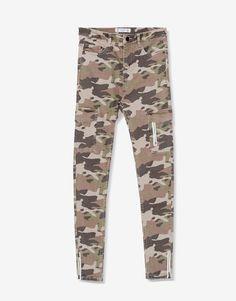 Pantalon skinny cargo - Pantalones - Ropa - Mujer - PULL&BEAR España