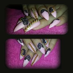 Stilleto nails with spikes
