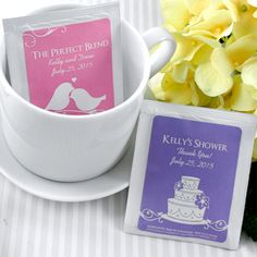 Personalized Silhouette DesignTea Favors (Many Designs) from Wedding Favors Unlimited