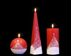 Handmade and Decorated Christmas Candle Holy Night Cylinder Pyramid Ball Led Candle Lights, Pillar Candles, Beautiful Candles, Paraffin Wax, Holy Night, Handmade Candles, Christmas Candles, Holi, Crafts
